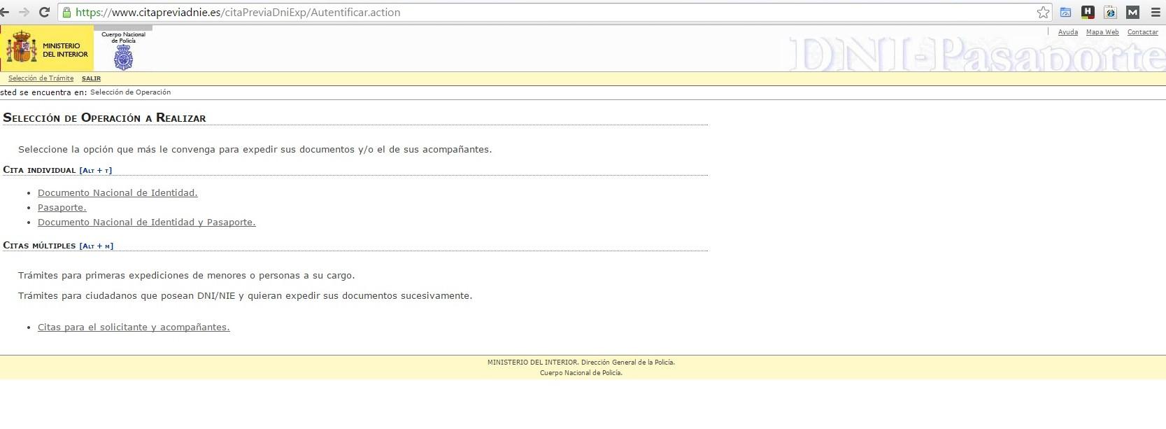 Cita previa internet www citapreviadnie es